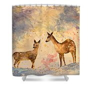 Silent Visitors Shower Curtain