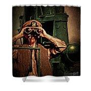 Silent Warriors Of World War 2 Oil Shower Curtain