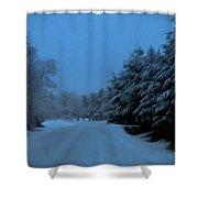 Silent Winter Night  Shower Curtain