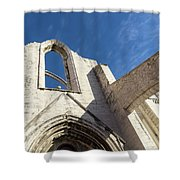 Silent Witness - Carmo Convent Roofless Ruin In Lisbon Portugal Shower Curtain