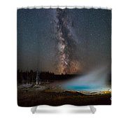 Silex Spring Milky Way  Shower Curtain