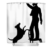 Silhouette, 1830 Shower Curtain