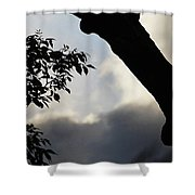 Silhouette Against The Sky Shower Curtain