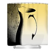 Silhouette And Shadow Play Shower Curtain