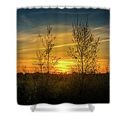 Silhouette By Sunset Shower Curtain