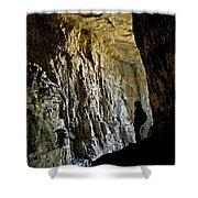 Silhouette Darby Wind Cave Shower Curtain