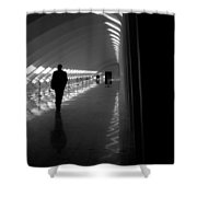 Silhouette In The Hall Shower Curtain