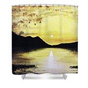 Silhouette Lagoon Shower Curtain