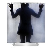 Silhouette Of A Girl Shower Curtain by Joana Kruse