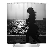 Silhouette Of A Woman Shower Curtain