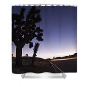 Silhouette Of Joshua Trees Yucca Shower Curtain