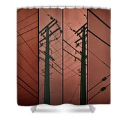 Silhouette Of Power. Shower Curtain