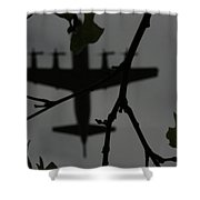Silhouette Of War And Peace Shower Curtain