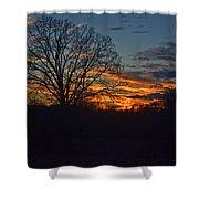 Silhouette Sunset 004 Shower Curtain