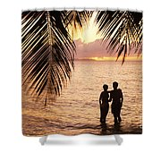 Silhouetted Couple Shower Curtain