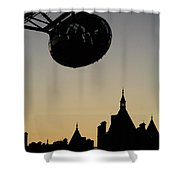 Silhouetted London Eye Capsule Shower Curtain