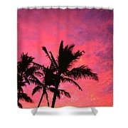 Silhouetted Palms Shower Curtain