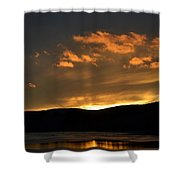 Silhouettes And Sunsets Shower Curtain