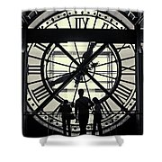 Silhouettes At Musee D'orsay Shower Curtain