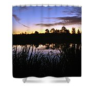 Silhouettes Of Sunrise Shower Curtain