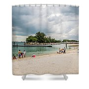 Siloso Beach Shower Curtain