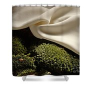 Silk And Moss Shower Curtain
