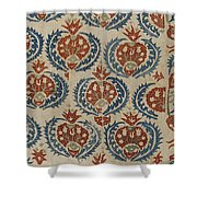 Silk Embroidered Linen Panel Shower Curtain