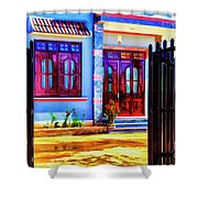 Silk Factory Owners Home Shower Curtain