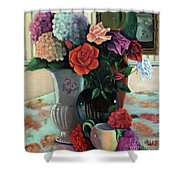 Silk Flowers Shower Curtain