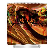 Silk Folds Shower Curtain