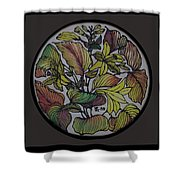 Silk Leaves Shower Curtain