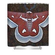 Silk Moth Shower Curtain
