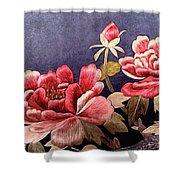 Silk Peonies - Kimono Series Shower Curtain by Susan Maxwell Schmidt