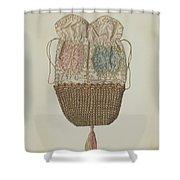 Silk-straw Reticule Shower Curtain