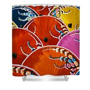Silk Umbrella Factory Shower Curtain