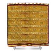 Silken Gold Border Stripes With Jewel Imprint Elegant Border Energy Healing Art By Navinjoshi Finear Shower Curtain