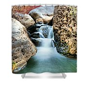 Silky Waters Of Jemez Springs Shower Curtain