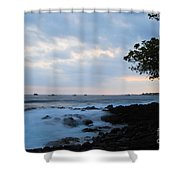 Silky Waves At Dusk Shower Curtain