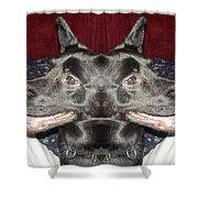 Silly Dog Shower Curtain