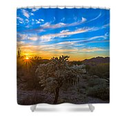Silly Sunset Shower Curtain