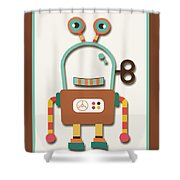 Silly Wind-up Toy Shower Curtain