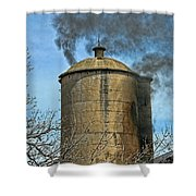 Silo Fire Venting Shower Curtain