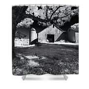 Silo In Black And White Shower Curtain