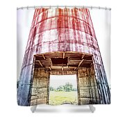 Silo Sunflare Shower Curtain