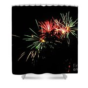 Silute 500. Lithuania. Fireworks 01 Shower Curtain