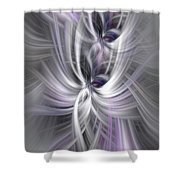 Silver Abstract Ascension. Mystery Of Colors Shower Curtain
