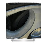 Silver Abstract Shower Curtain
