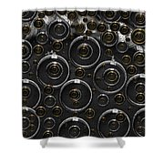 Silver And Gold Collage Shower Curtain