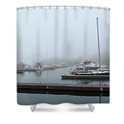 Silver Bay Marina Shower Curtain