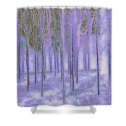 Silver Birch Magical Abstract  Shower Curtain
